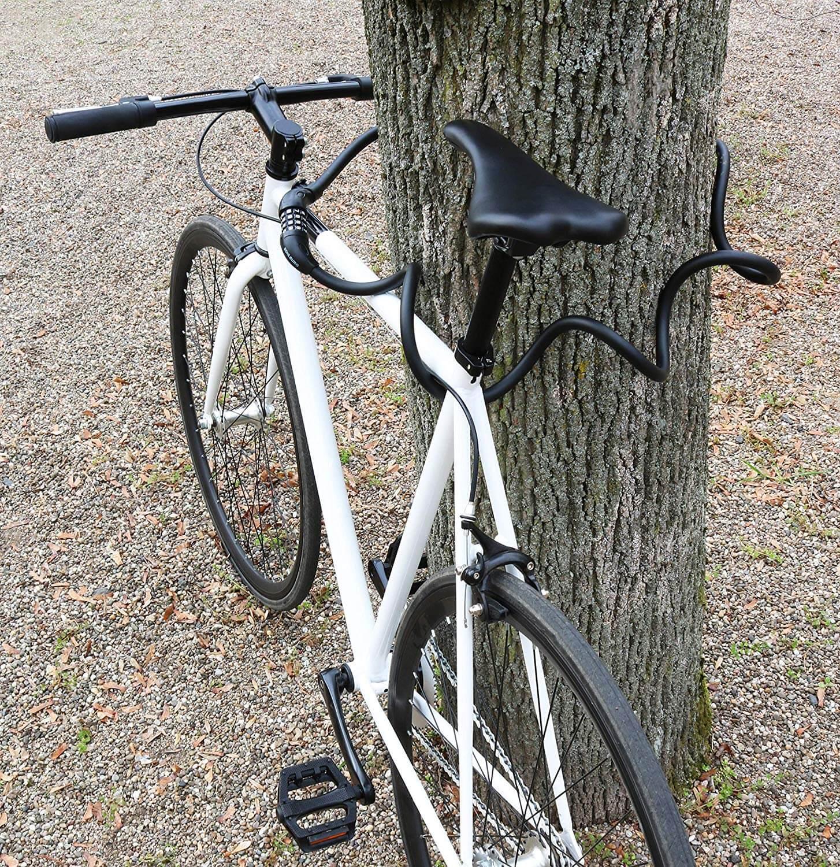 Fahrradschloss 180cm//12mm Kabelschloss mit 3 St/ück Schl/üssel und Metal Kabel Fahrrad Schloss Schwerlast Kombination mit Montagehalterung f/ür Fahrrad Scooter f/ür Kinder und Erwachsene