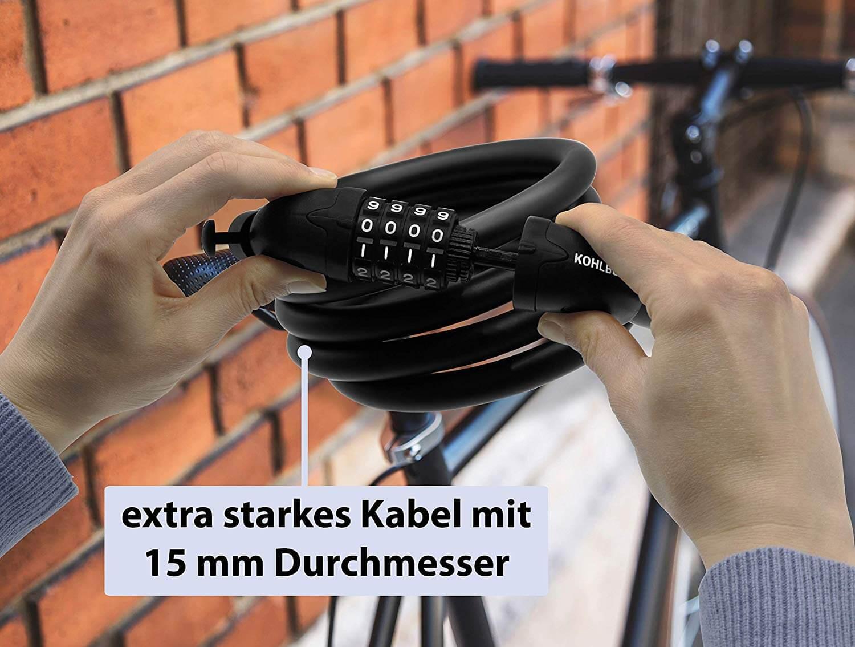 Kabelschloss 6 mm starkes Kabel farbig Sicherheit Schlüssel